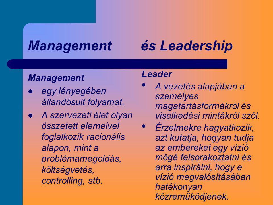 Management és Leadership