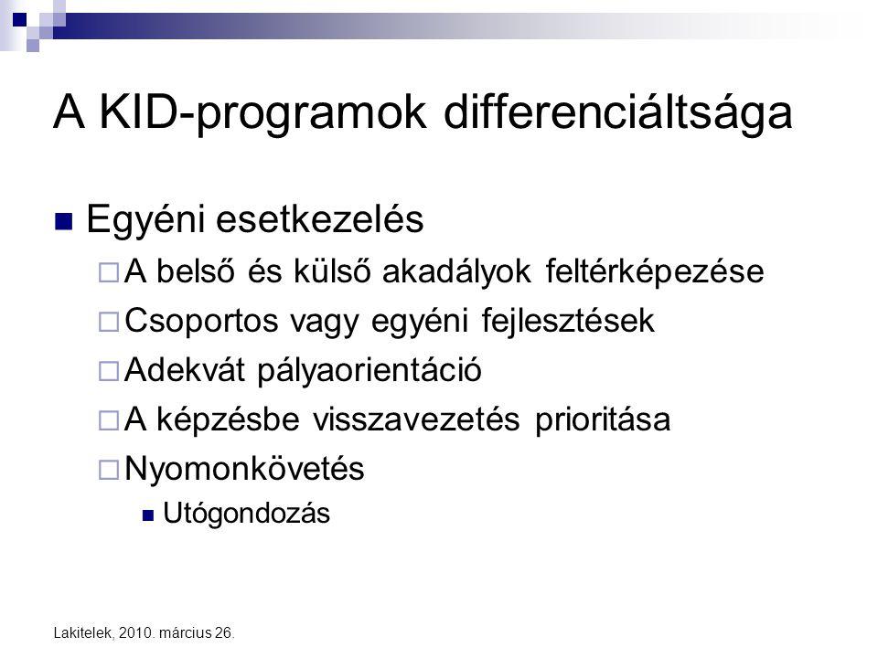 A KID-programok differenciáltsága