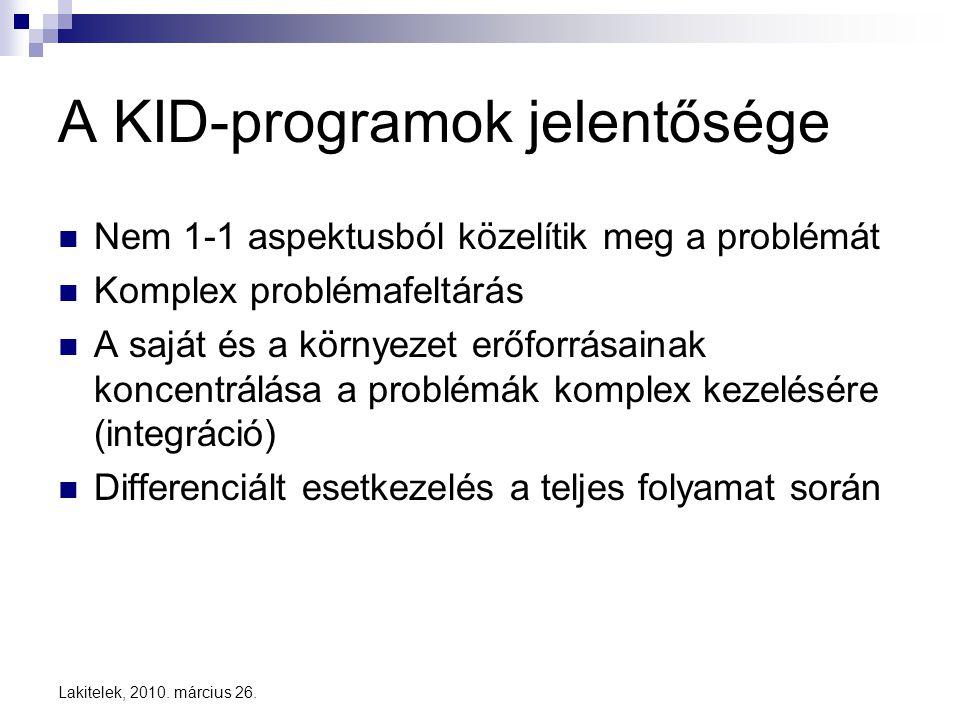 A KID-programok jelentősége