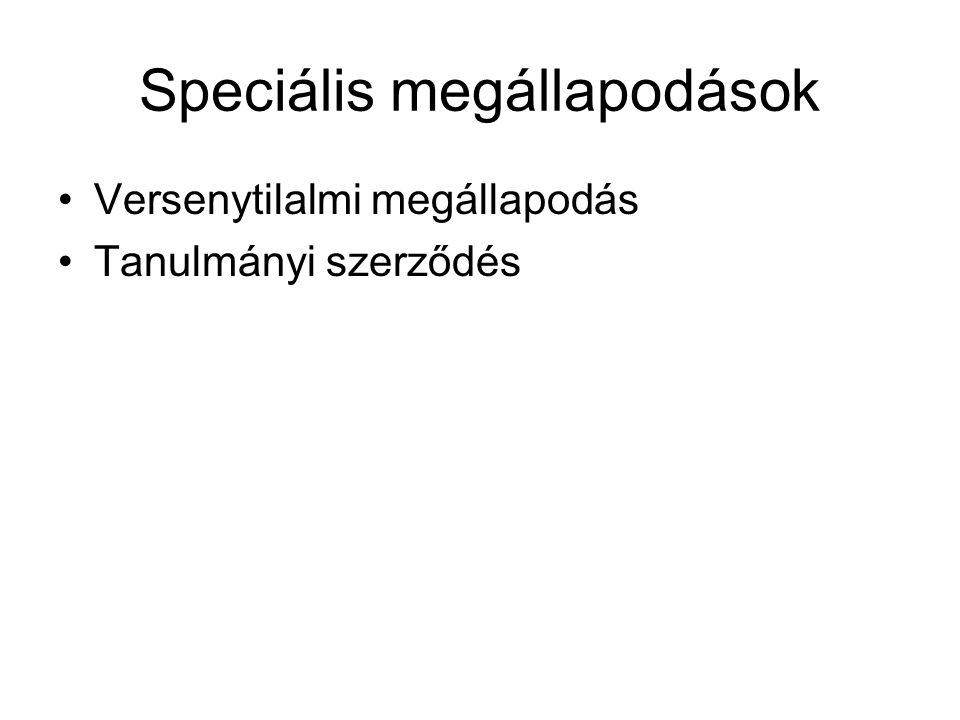 Speciális megállapodások