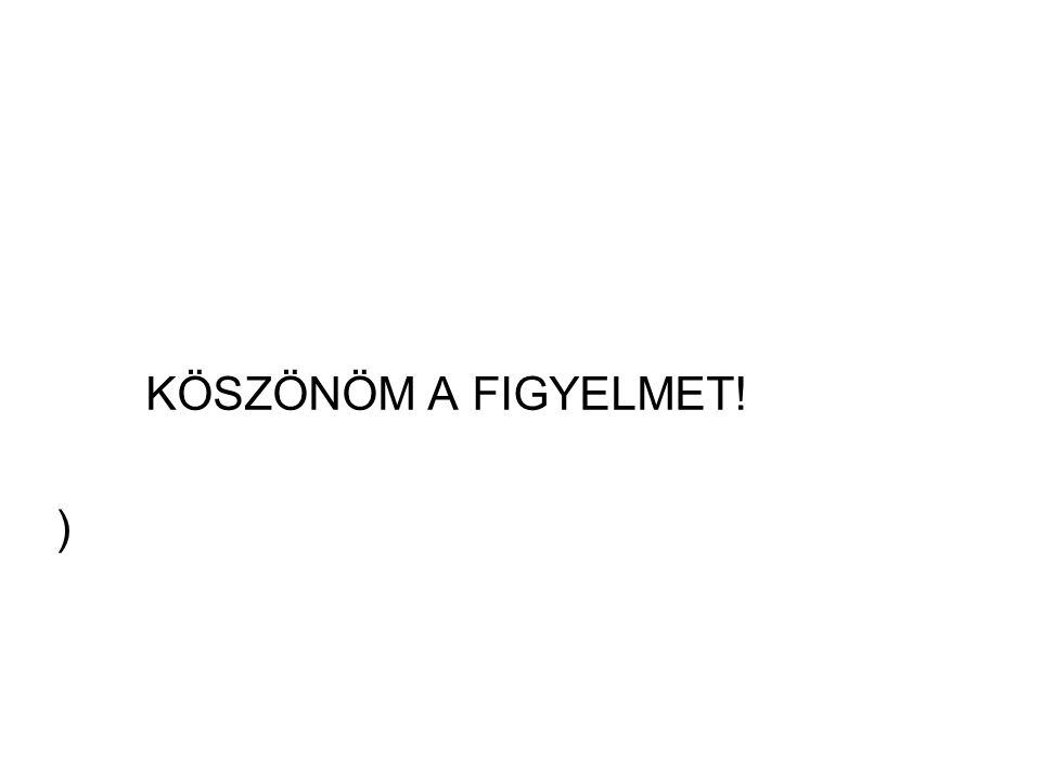 KÖSZÖNÖM A FIGYELMET! )