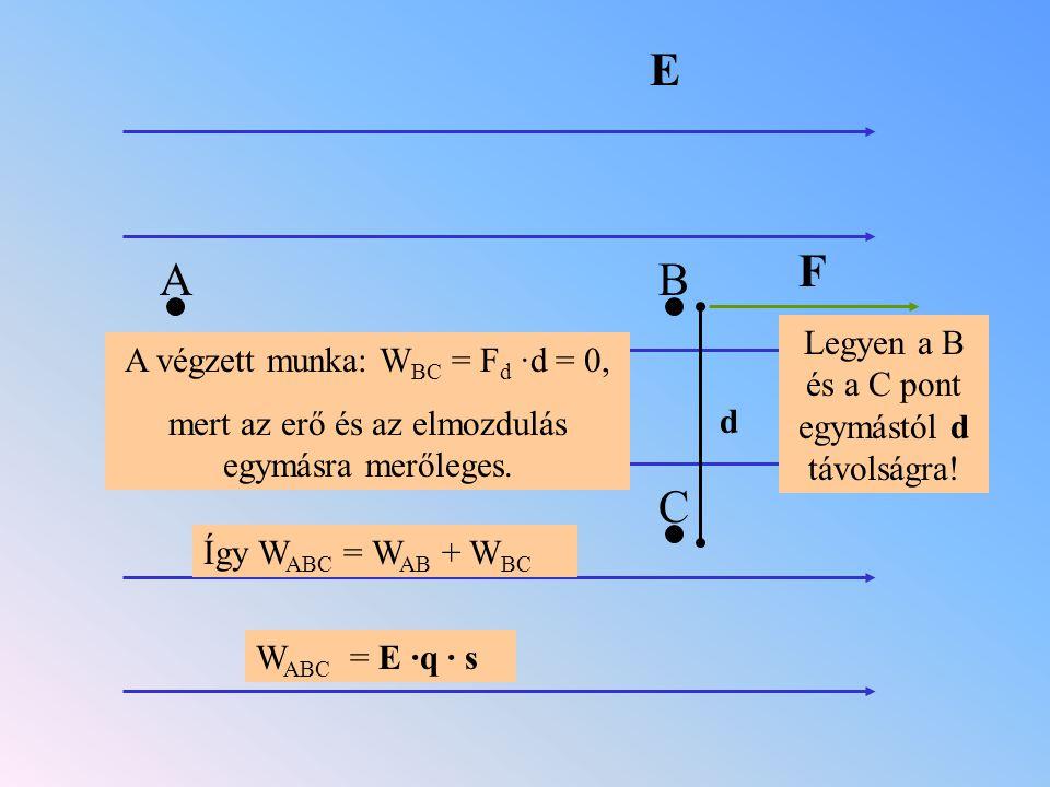 E F A B C Legyen a B és a C pont egymástól d távolságra!