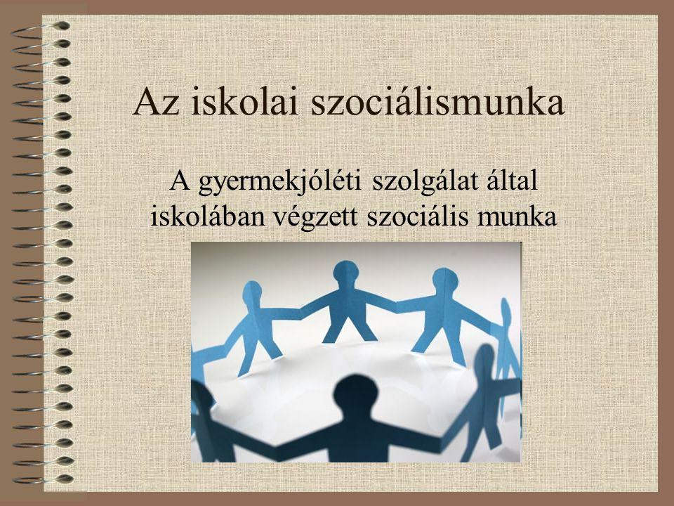 Az iskolai szociálismunka