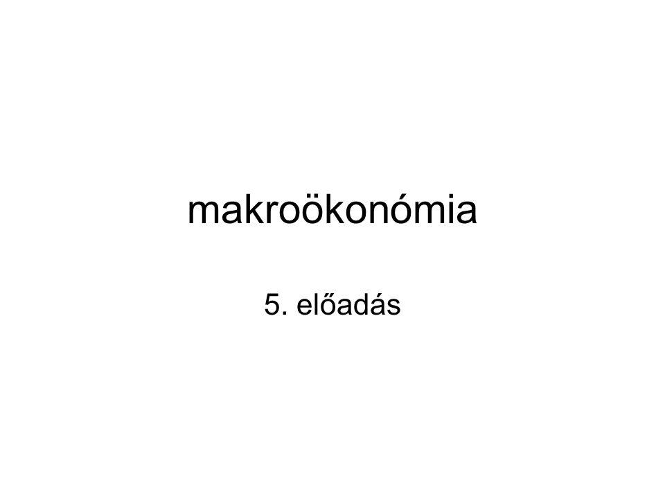 makroökonómia 5. előadás