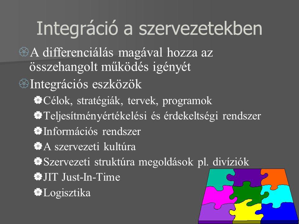 Integráció a szervezetekben