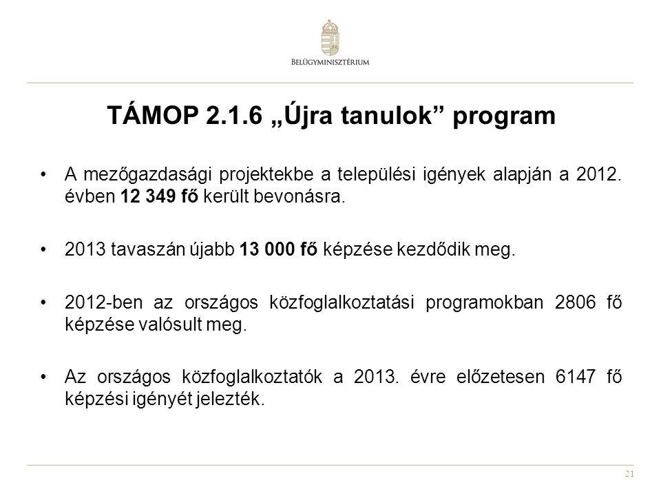 """TÁMOP 2.1.6 """"Újra tanulok program"""