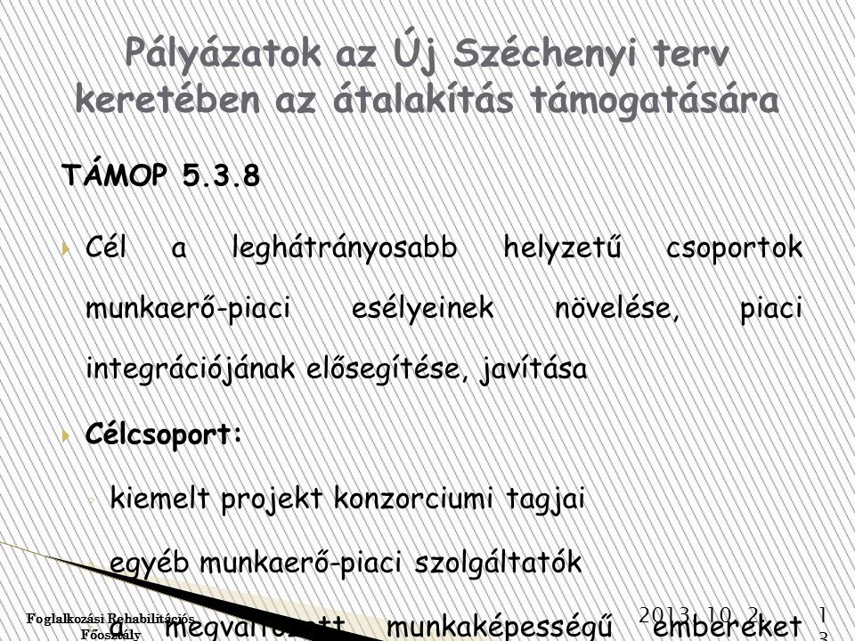 Pályázatok az Új Széchenyi terv keretében az átalakítás támogatására