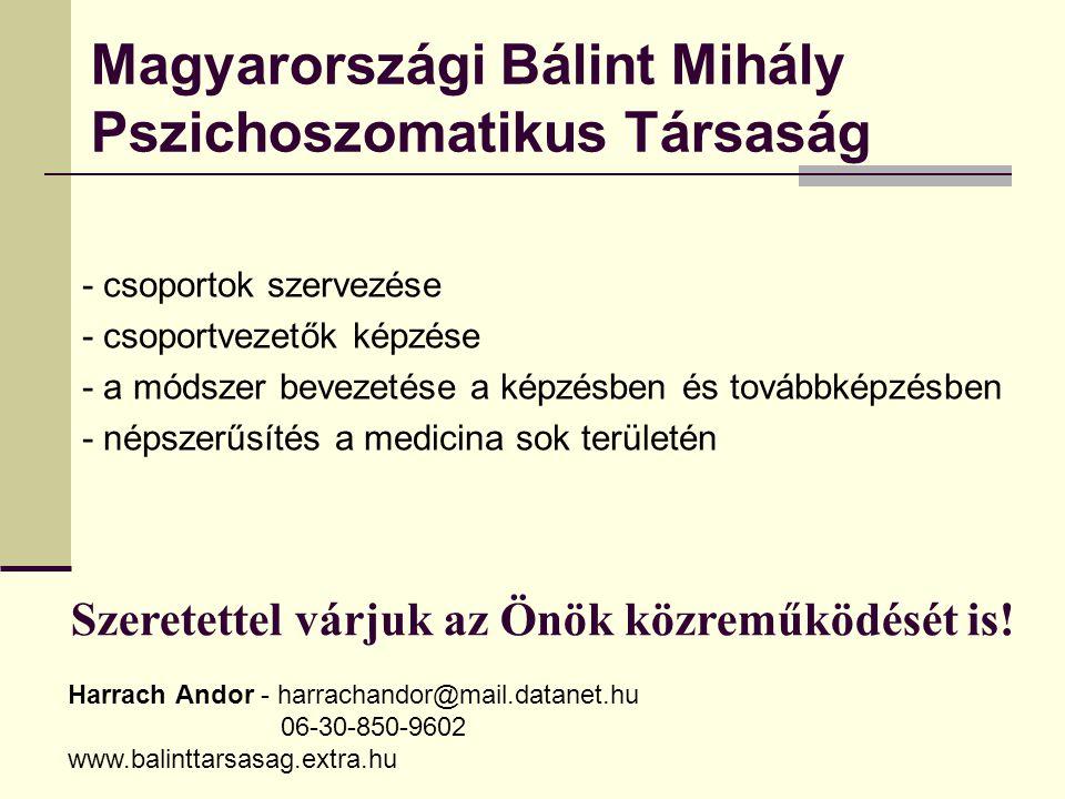 Magyarországi Bálint Mihály Pszichoszomatikus Társaság