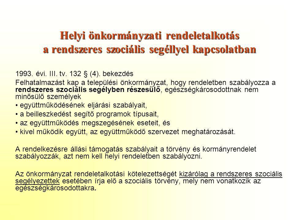 Helyi önkormányzati rendeletalkotás