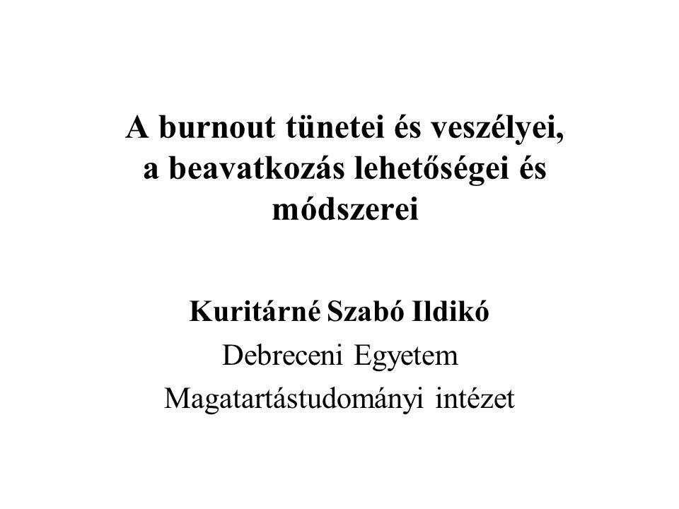 A burnout tünetei és veszélyei, a beavatkozás lehetőségei és módszerei