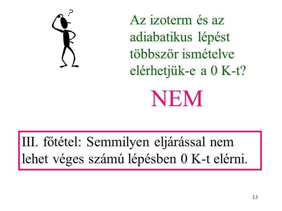 Az izoterm és az adiabatikus lépést többször ismételve elérhetjük-e a 0 K-t