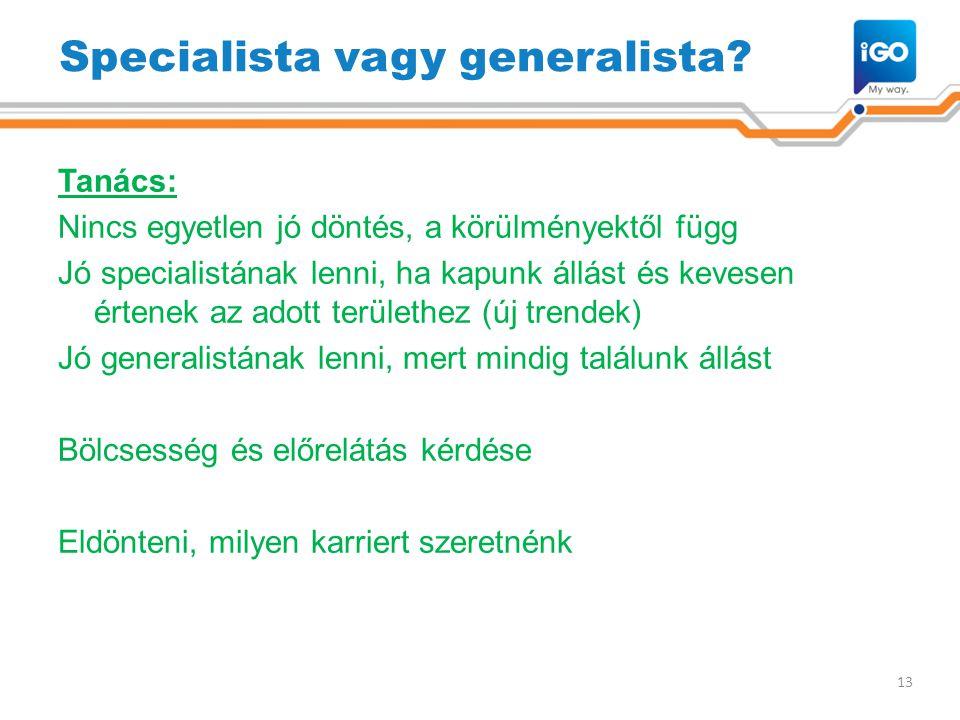 Specialista vagy generalista