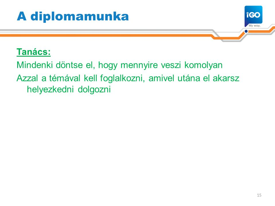 A diplomamunka