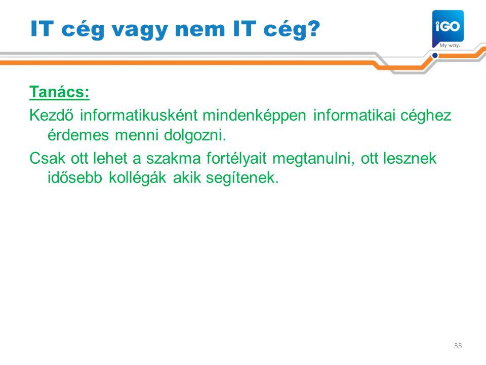 IT cég vagy nem IT cég