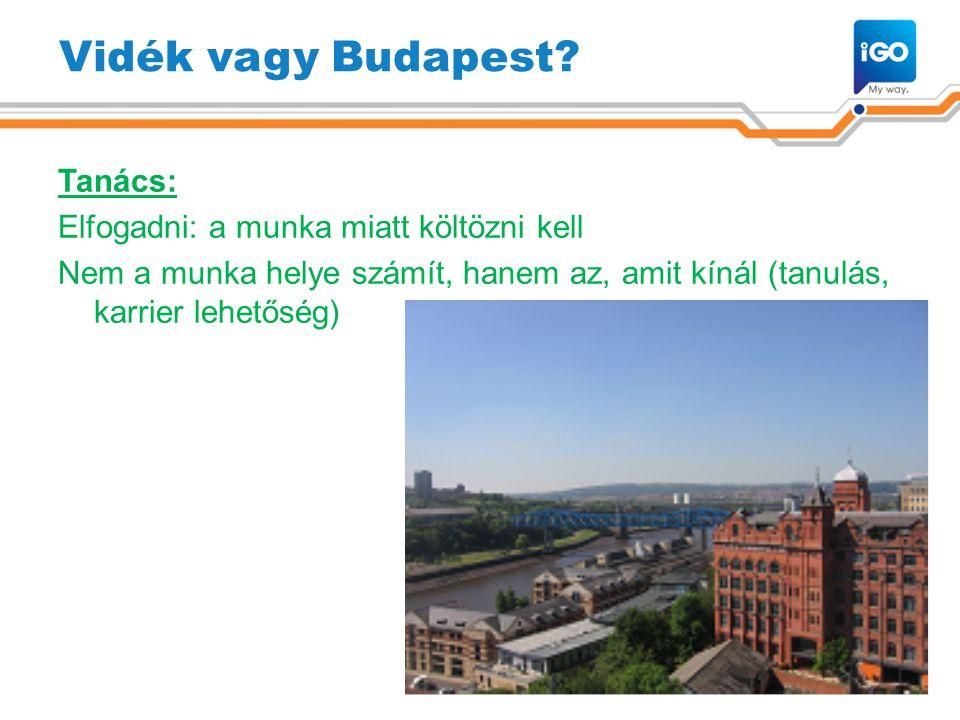Vidék vagy Budapest.