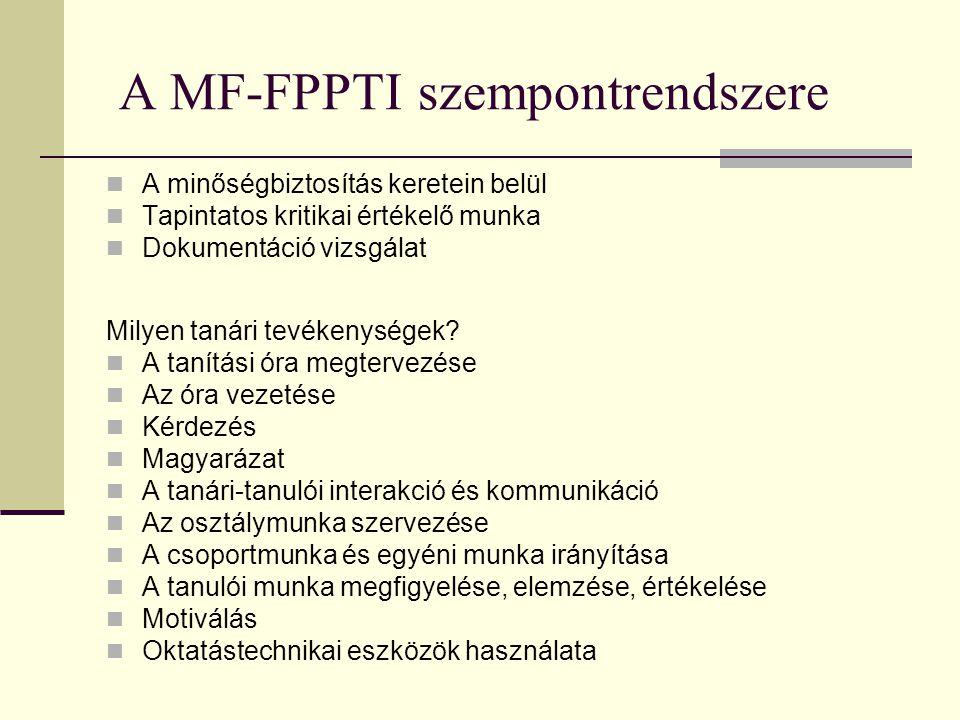 A MF-FPPTI szempontrendszere
