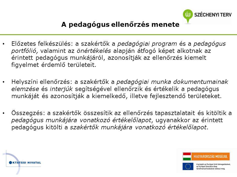 A pedagógus ellenőrzés menete