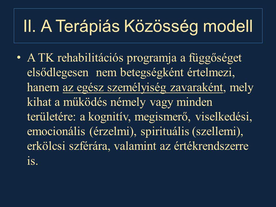 II. A Terápiás Közösség modell