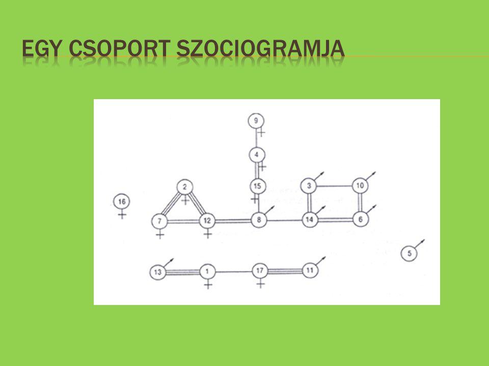 Egy csoport szociogramja