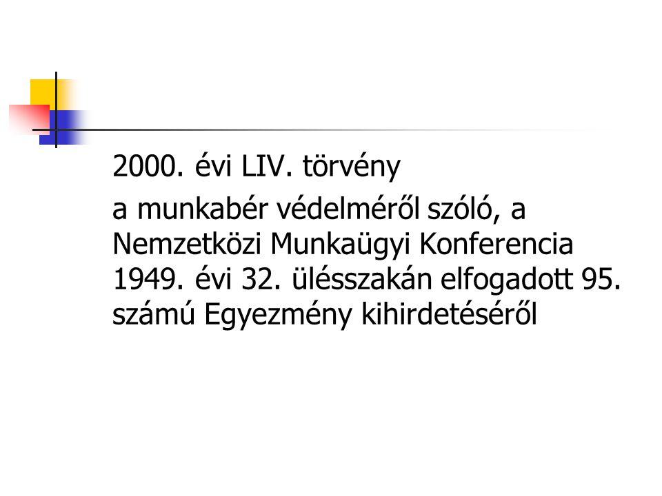 2000. évi LIV. törvény
