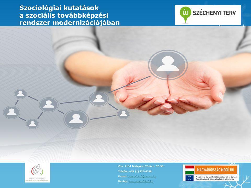 Szociológiai kutatások a szociális továbbképzési
