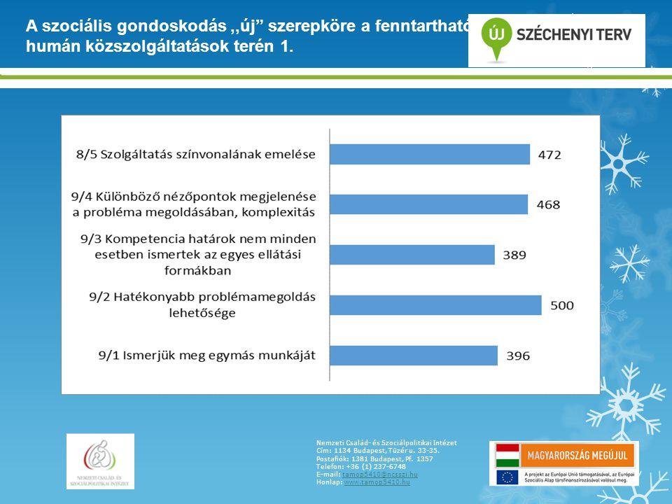 A szociális gondoskodás ,,új szerepköre a fenntartható humán közszolgáltatások terén 1.