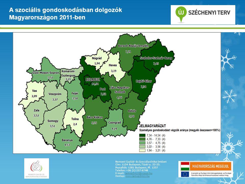 A szociális gondoskodásban dolgozók Magyarországon 2011-ben
