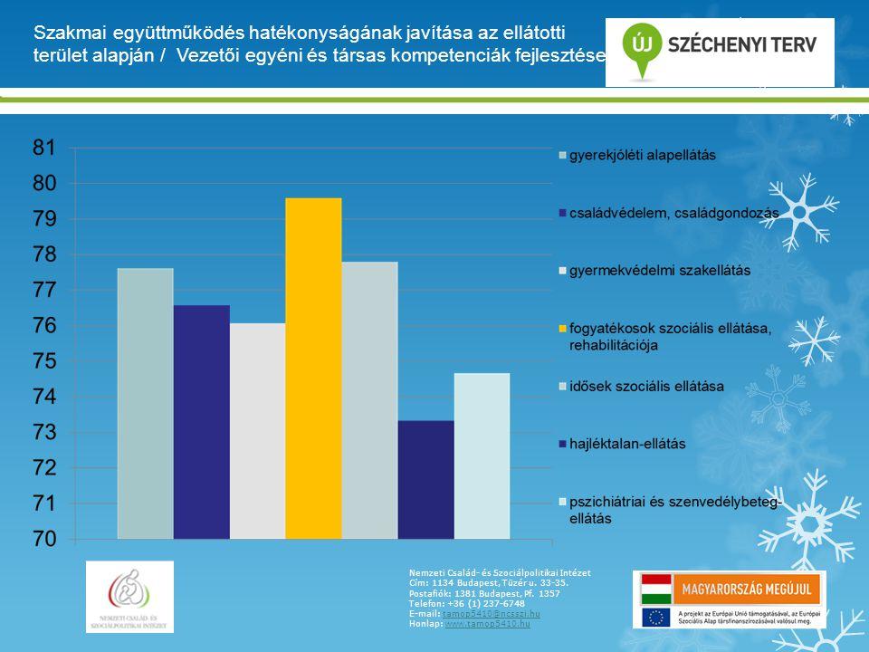 Szakmai együttműködés hatékonyságának javítása az ellátotti terület alapján / Vezetői egyéni és társas kompetenciák fejlesztése