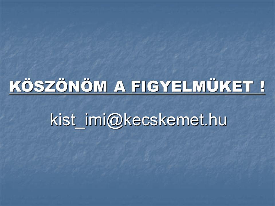 kist_imi@kecskemet.hu KÖSZÖNÖM A FIGYELMÜKET !