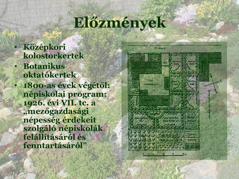 Előzmények Középkori kolostorkertek Botanikus oktatókertek