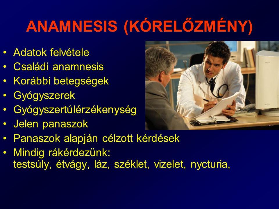 ANAMNESIS (KÓRELŐZMÉNY)