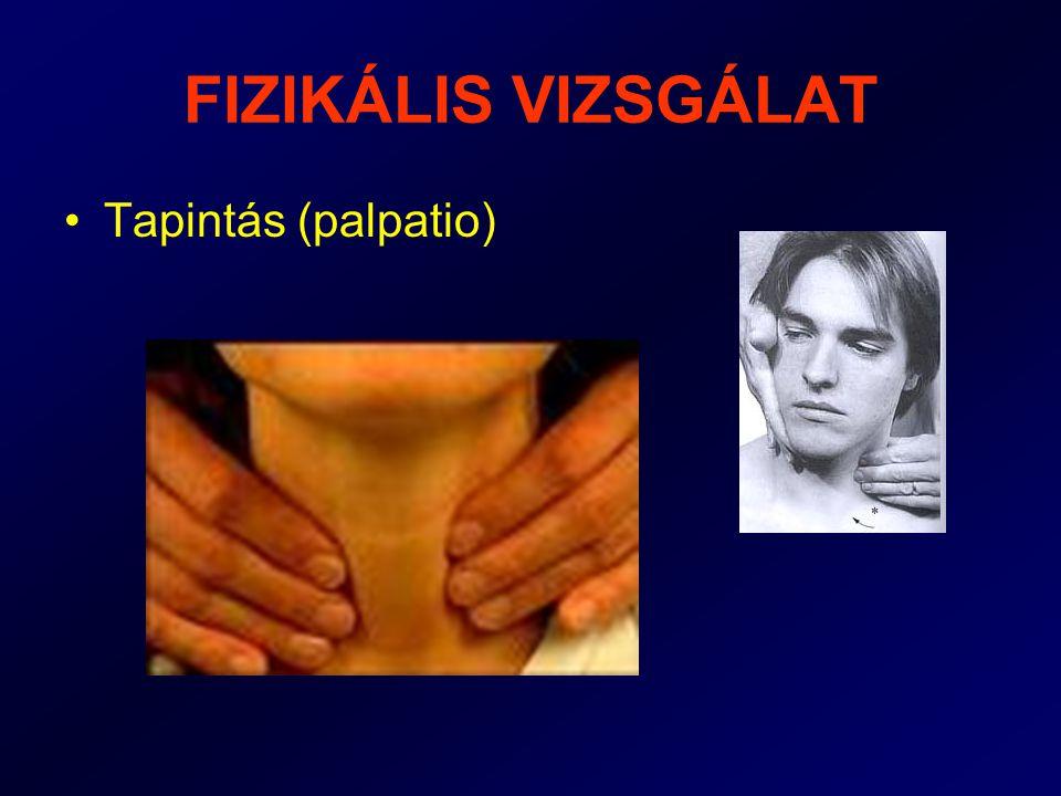 FIZIKÁLIS VIZSGÁLAT Tapintás (palpatio)