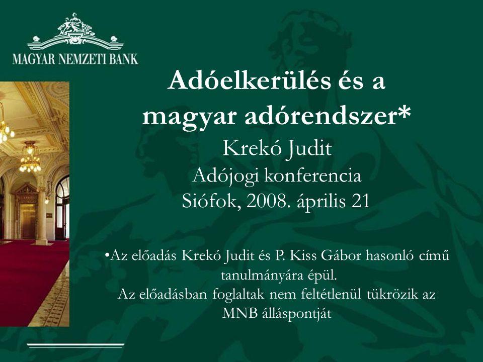 Adóelkerülés és a magyar adórendszer*