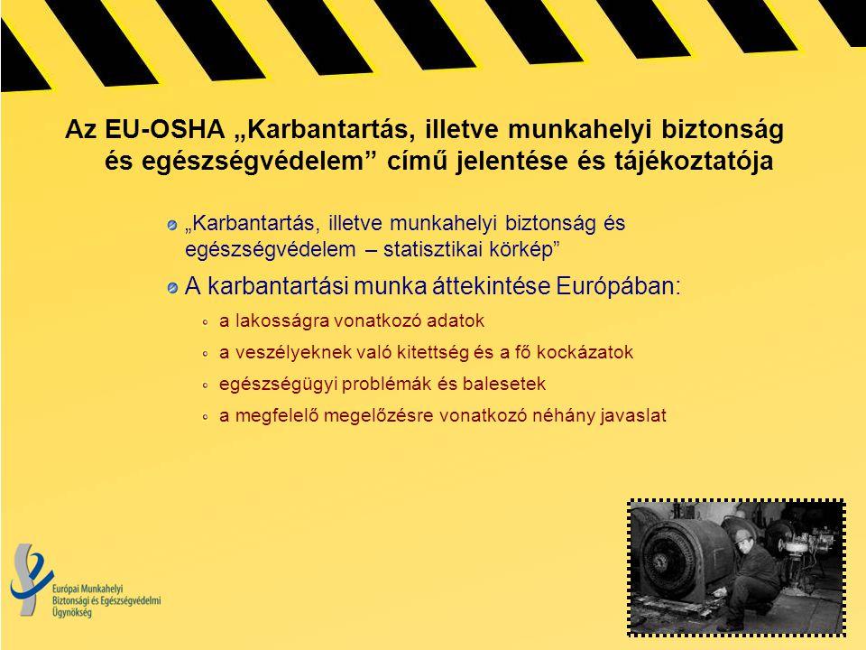 """Az EU-OSHA """"Karbantartás, illetve munkahelyi biztonság és egészségvédelem című jelentése és tájékoztatója"""