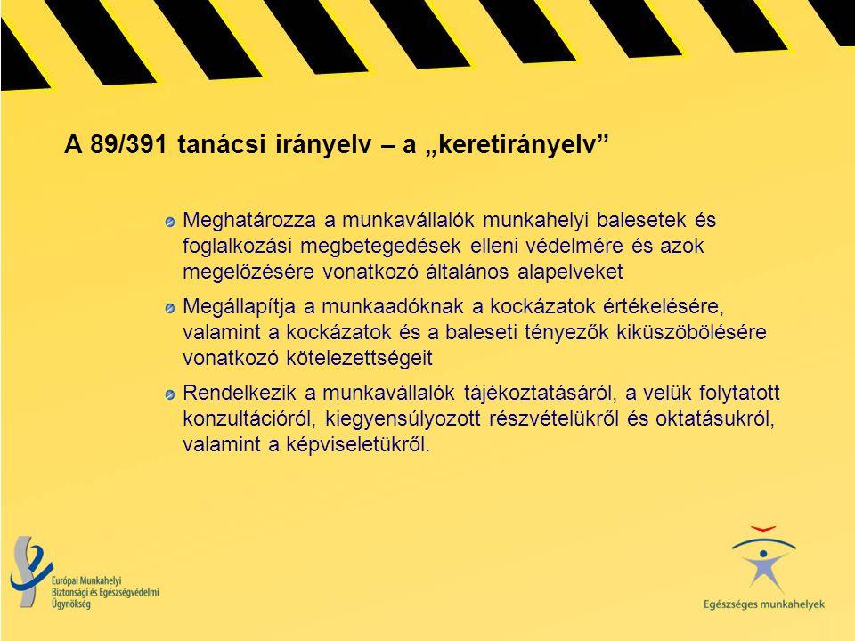 """A 89/391 tanácsi irányelv – a """"keretirányelv"""