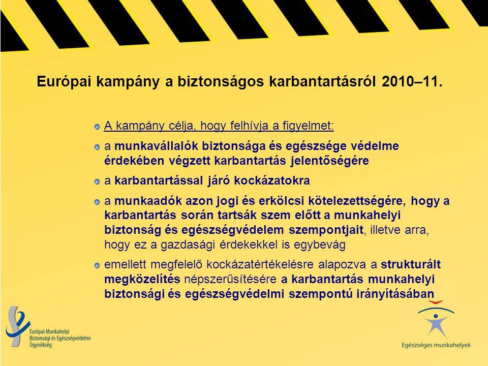 Európai kampány a biztonságos karbantartásról 2010–11.