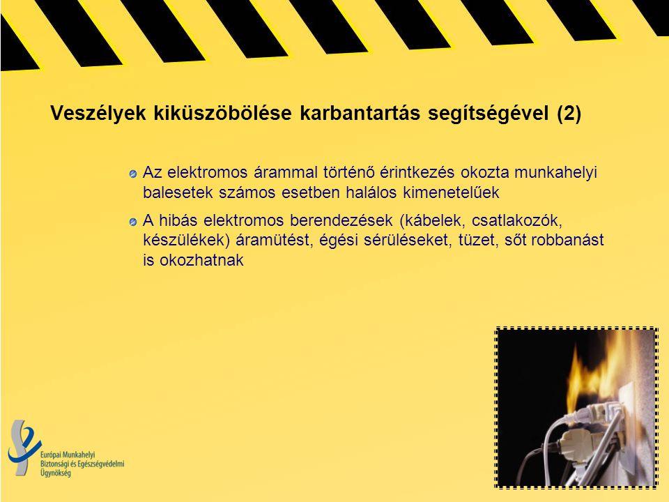 Veszélyek kiküszöbölése karbantartás segítségével (2)
