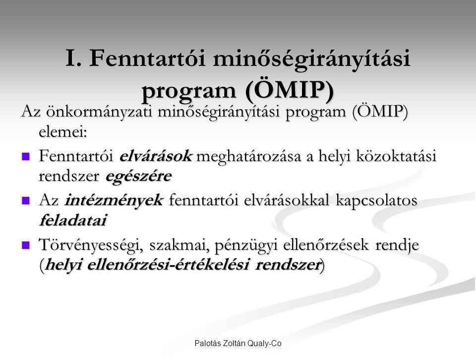 I. Fenntartói minőségirányítási program (ÖMIP)