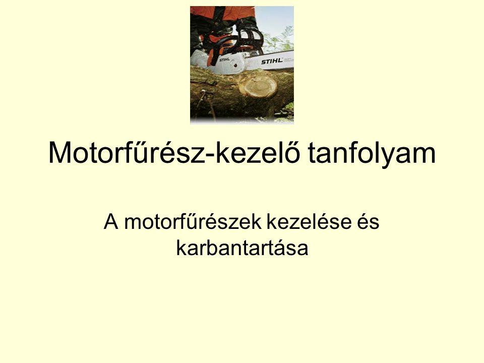 Motorfűrész-kezelő tanfolyam
