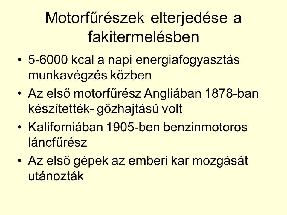 Motorfűrészek elterjedése a fakitermelésben