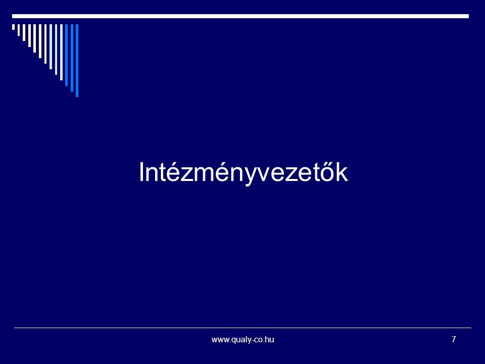Intézményvezetők www.qualy-co.hu