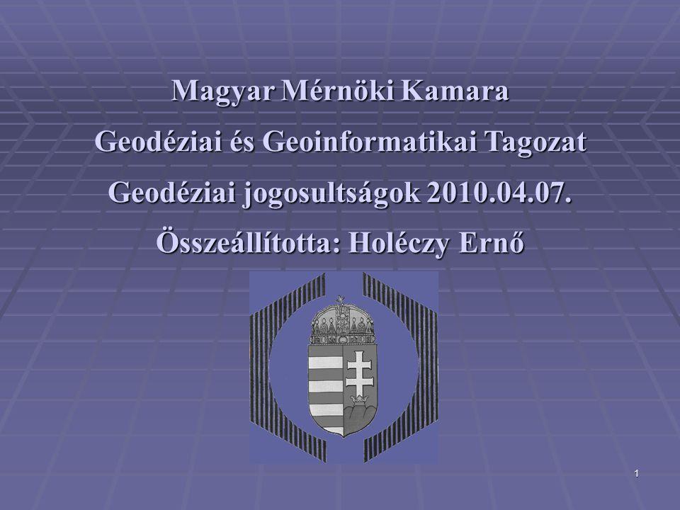 Geodéziai és Geoinformatikai Tagozat