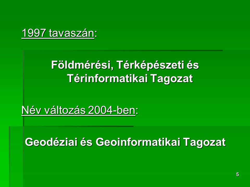 Földmérési, Térképészeti és Térinformatikai Tagozat