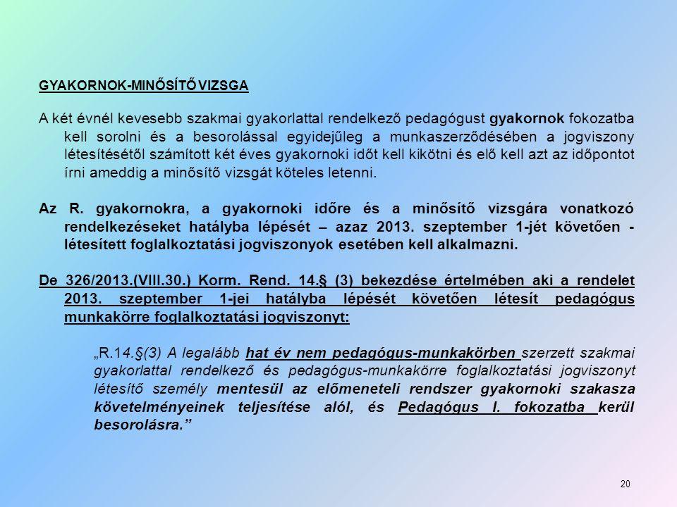 GYAKORNOK-MINŐSÍTŐ VIZSGA