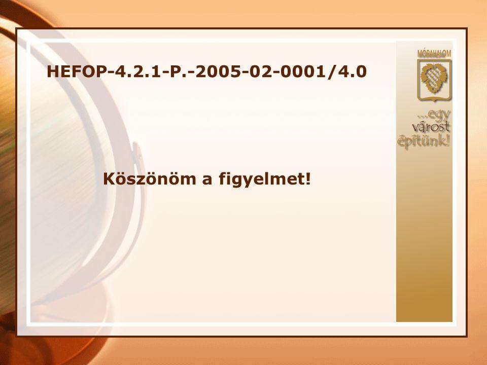 HEFOP-4.2.1-P.-2005-02-0001/4.0 Köszönöm a figyelmet!