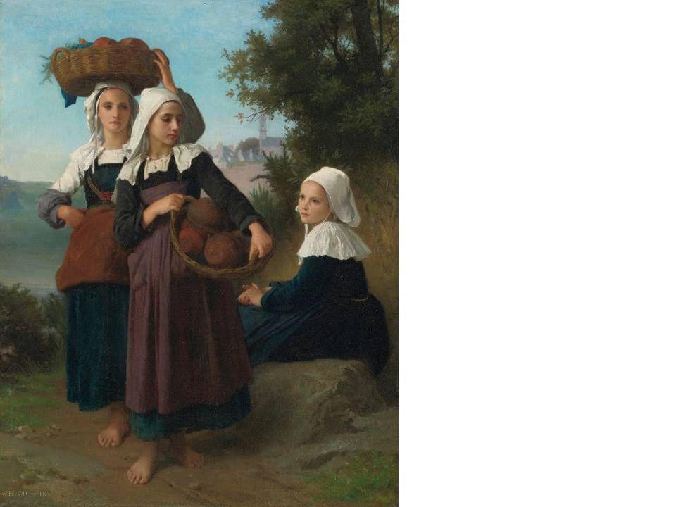 William-Adolphe Bouguereau - Piacról hazatérő lányok, 1869