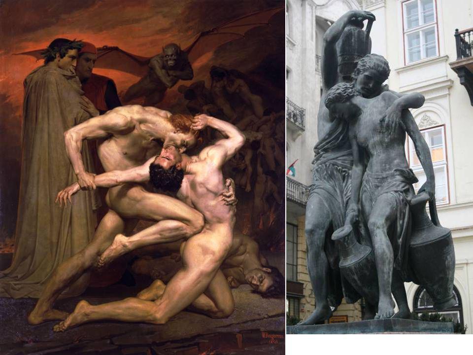 Bouguereau - Dante és Vergilius a pokolban, 1850