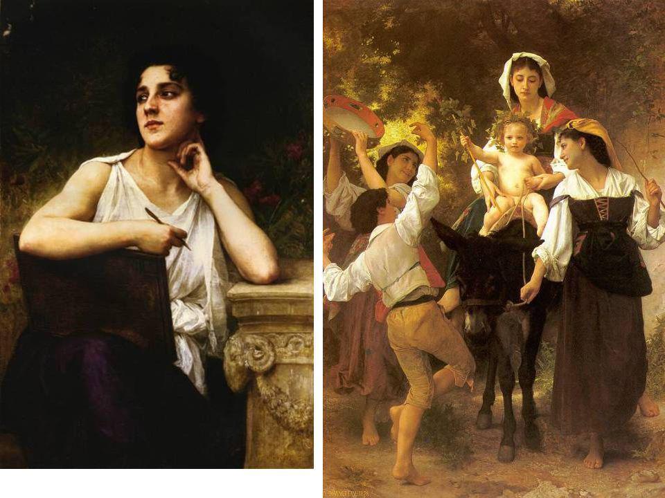 Bouguereau - Ihlet, 1898 Bouguereau - Hazatérés szüretről, 1878