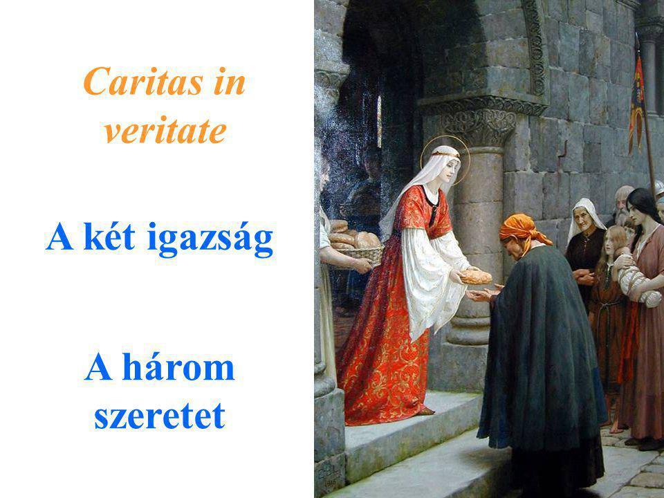Caritas in veritate A két igazság A három szeretet