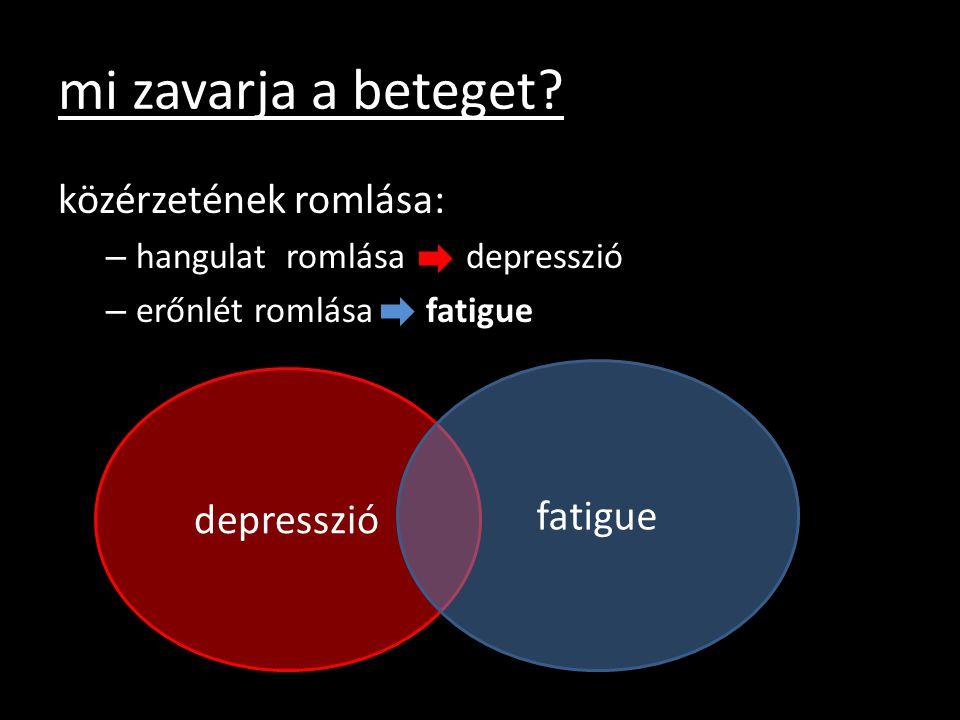 mi zavarja a beteget közérzetének romlása: fatigue depresszió